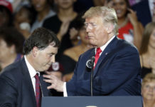 Troy Balderson and Donald Trump