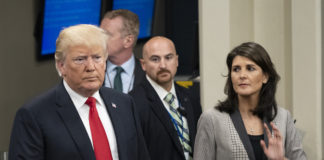 Nikki Haley with Trump