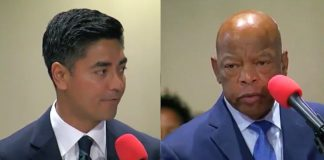 Aftab Pureval and Rep. John Lewis