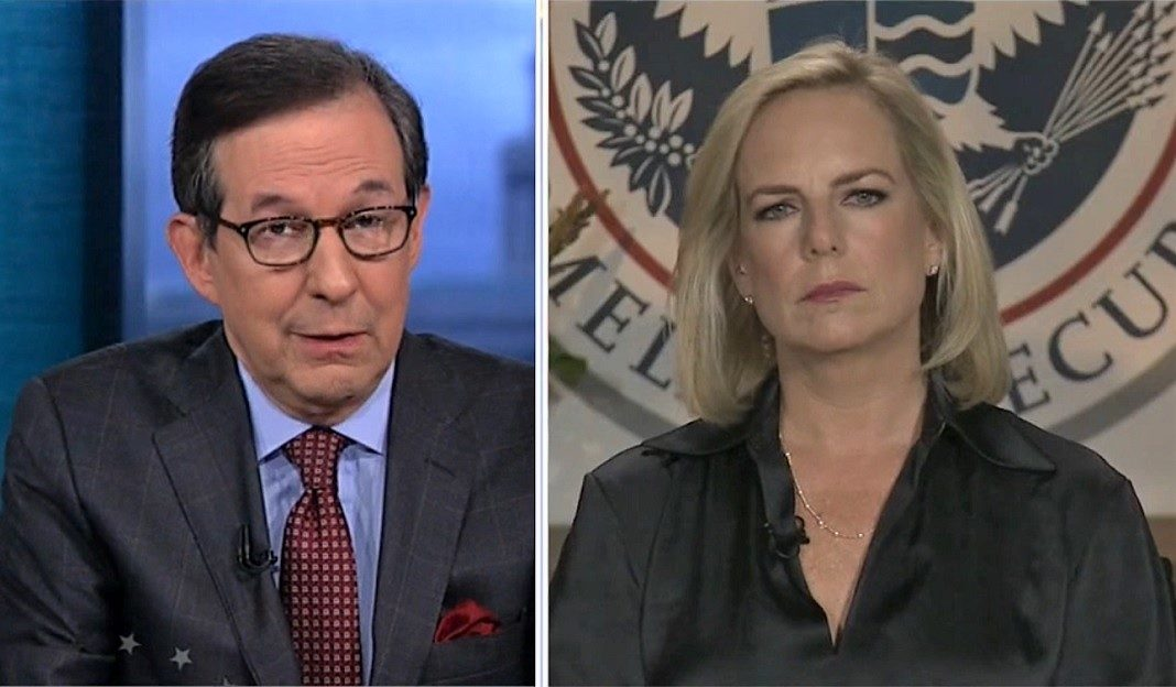 Chris Wallace and Kirstjen Nielsen