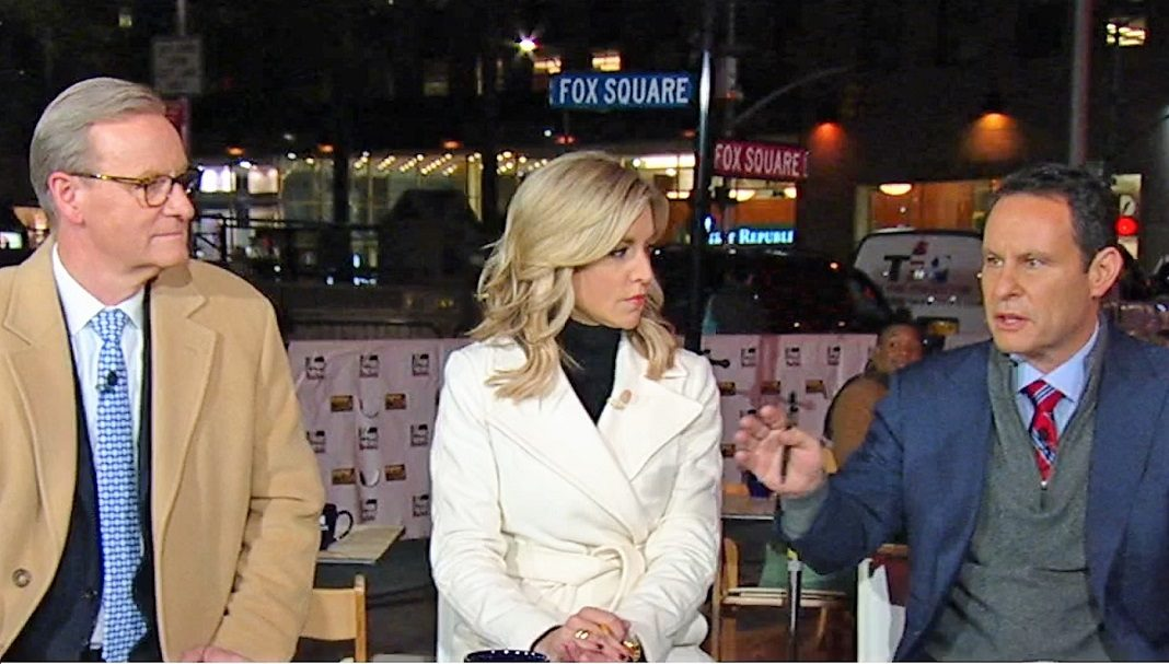 Steve Doocy, Ainsley Earhardt, and Brian Kilmeade of Fox & Friends