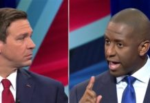 Rep. Ron DeSantis and Mayor Andrew Gillum