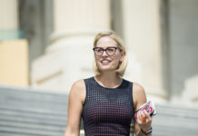 Newly elected Arizona Senator Kyrsten Sinema