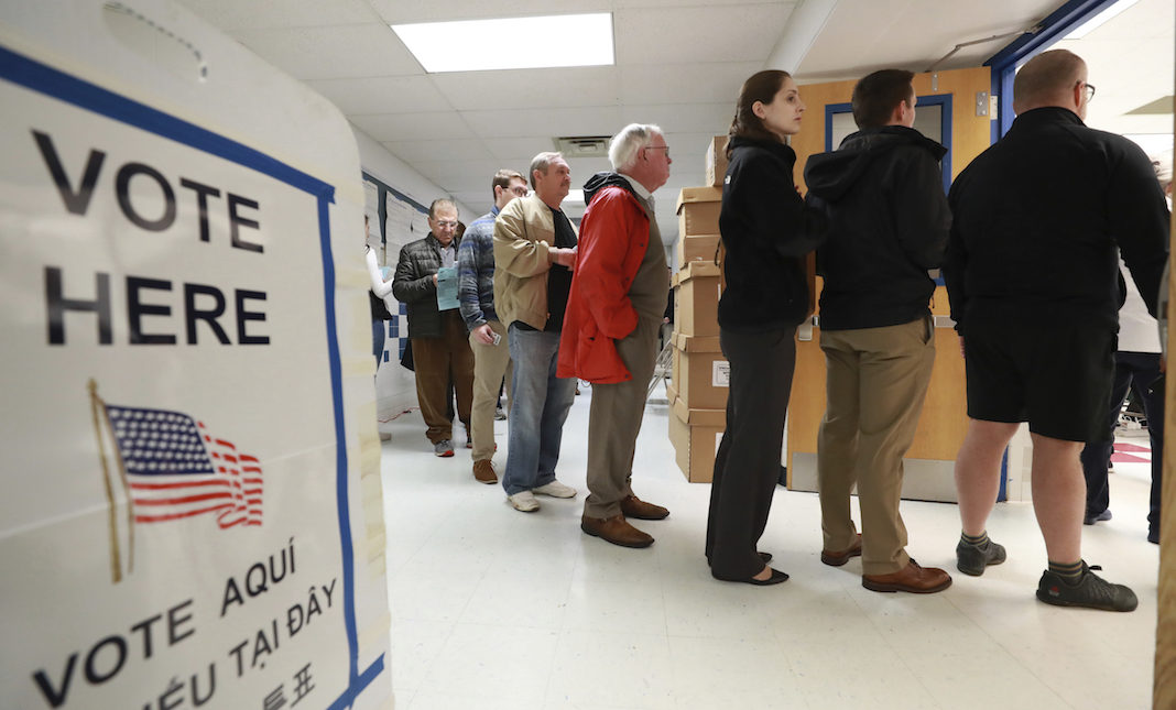 Midterm elections voting line