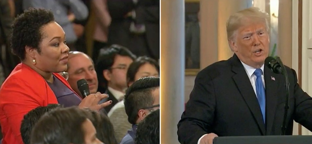 Trump calls black reporter racist for asking about his racism