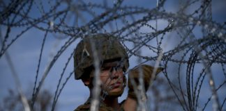 U.S. troops stationed at southern border