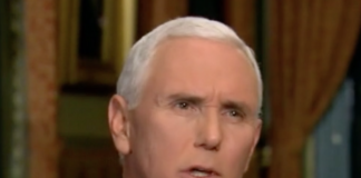 Mike Pence visits with Tucker Carlson.