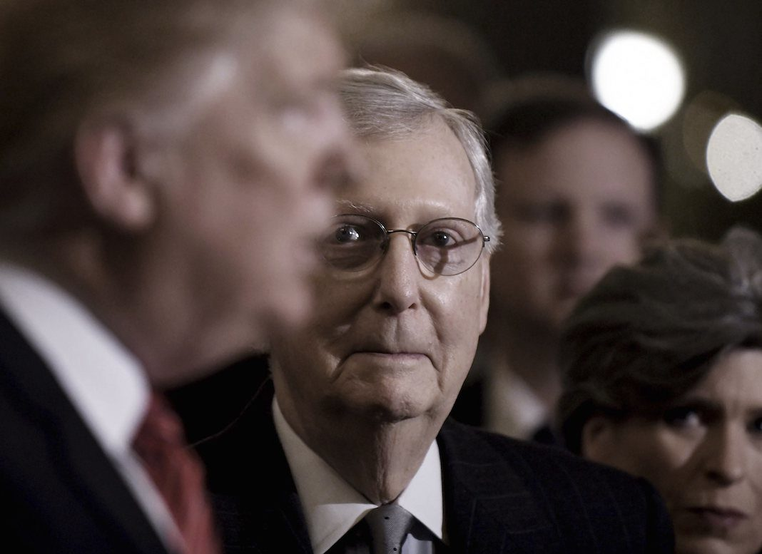 Mitch McConnell stands by Trump