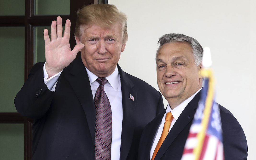 Trump with Hungarian Prime Minister