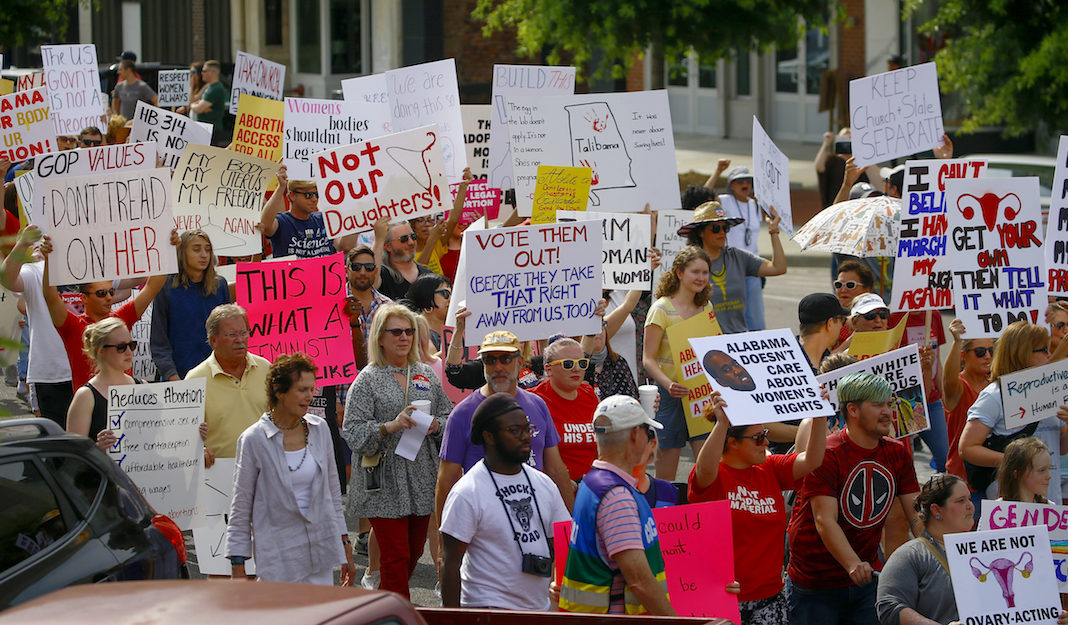 Pro-choice protest in Alabama