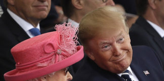 Trump and Queen Elizabeth II