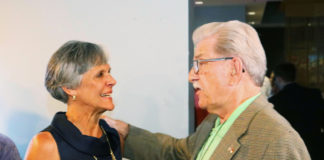 Joan Perry with a supporter in North Carolina's 3rd District