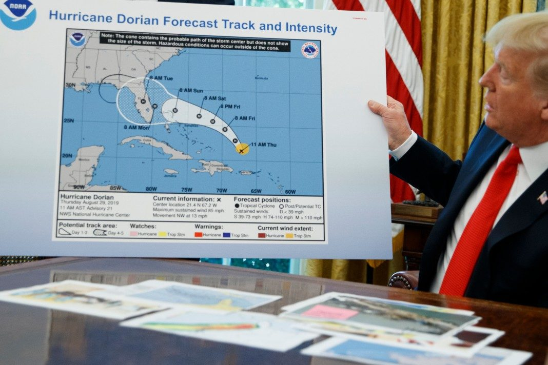 Donald Trump, Hurricane Dorian