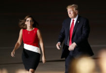 Sen. Marthy McSally with Trump