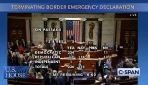 House votes to end border emergency