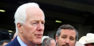 John Cornyn with Ted Cruz