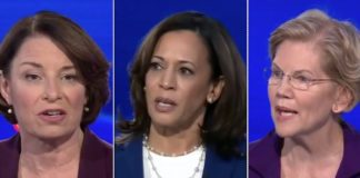 Amy Klobuchar Kamala Harris Elizabeth Warren Democratic debate