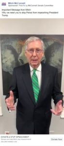 McConnell fundraising off vow to stop impeachment
