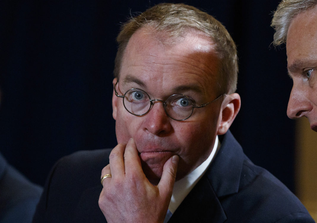 White House acting chief of staff Mick Mulvaney
