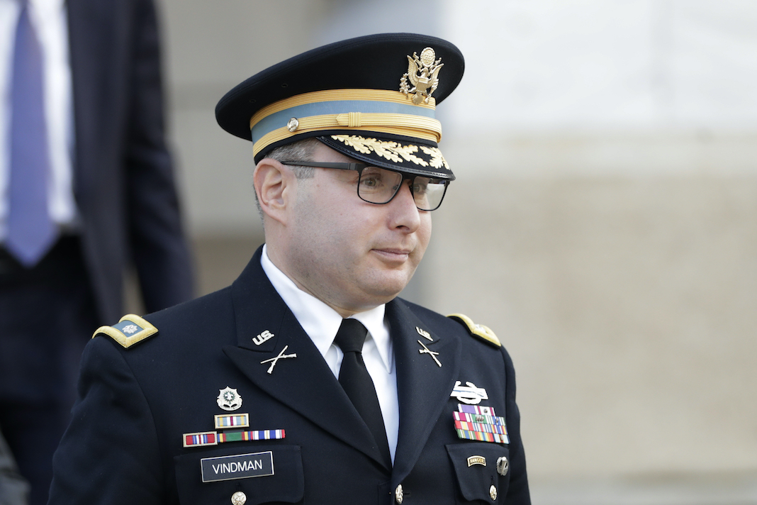 National Security Council aide Lt. Col. Alexander Vindman