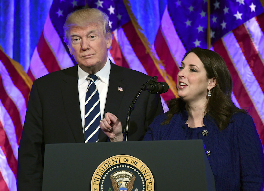 Donald Trump with Ronna Romney McDaniel