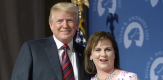 Trump with SBA List leader Marjorie Dannenfelser