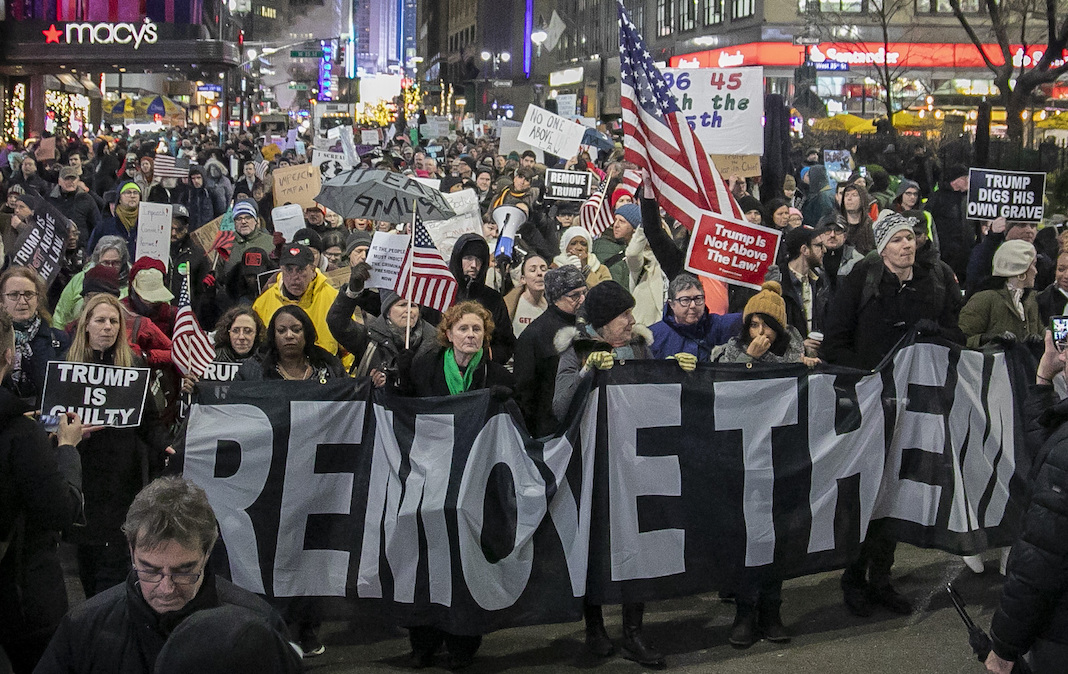 Tens of thousands rally nationwide in support of Trump's impeachment