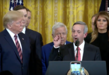 Trump with Pastor Robert Jeffress