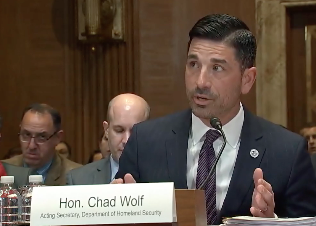Department Homeland Security acting Secretary Chad Wolf