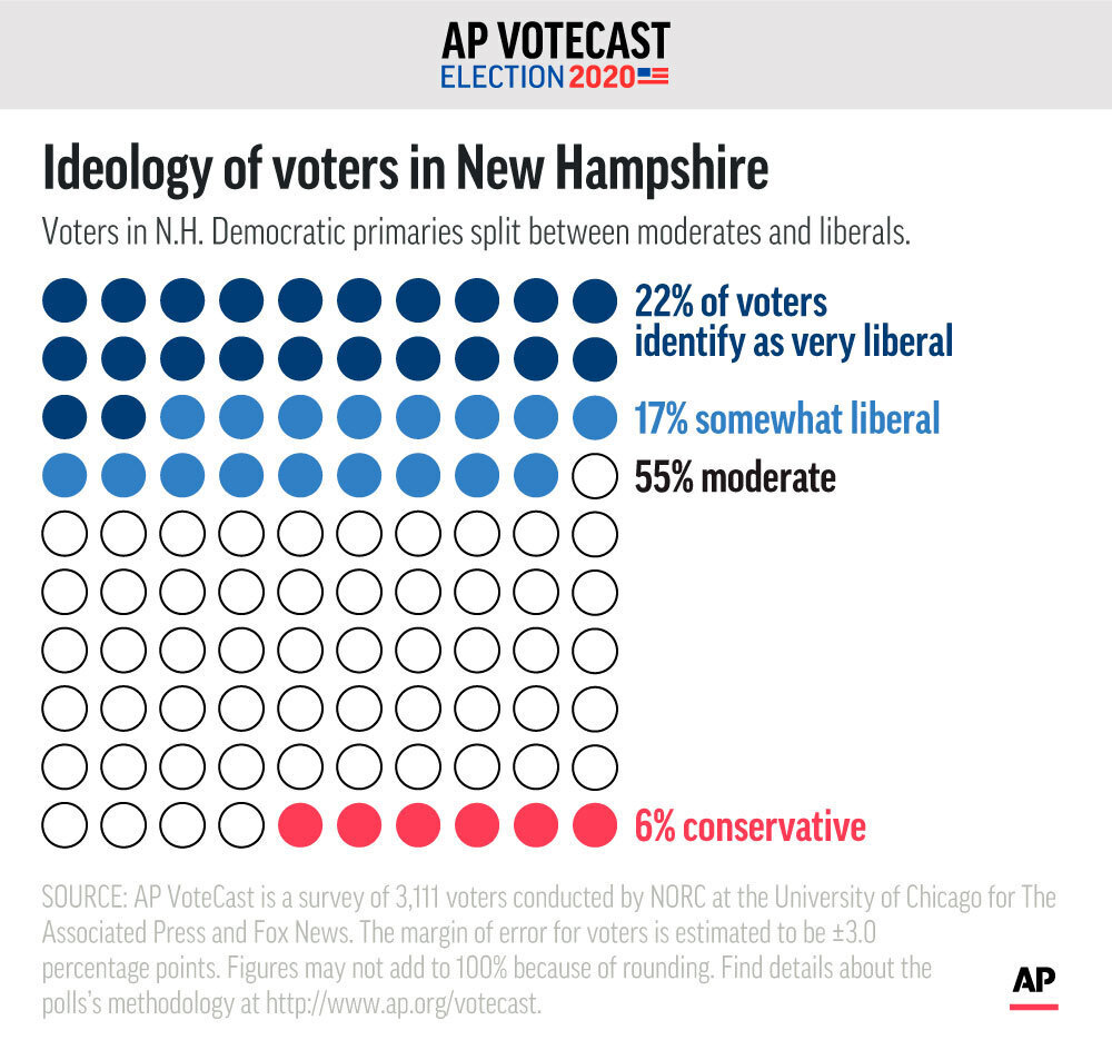 AP VoteCast Ideology New Hampshire
