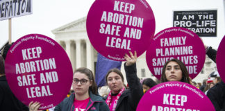 Abortion rights demonstrators