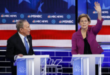 Former New York Mayor Mike Bloomberg and Sen. Elizabeth Warren.