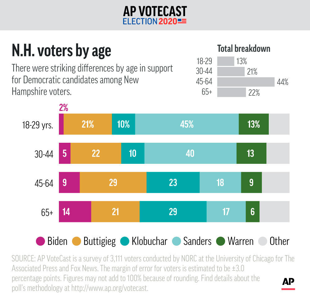 AP VoteCast Age New Hampshire