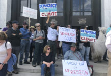 Climate change demonstrators in Oregon.
