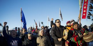 Tribal protest, oil pipelines