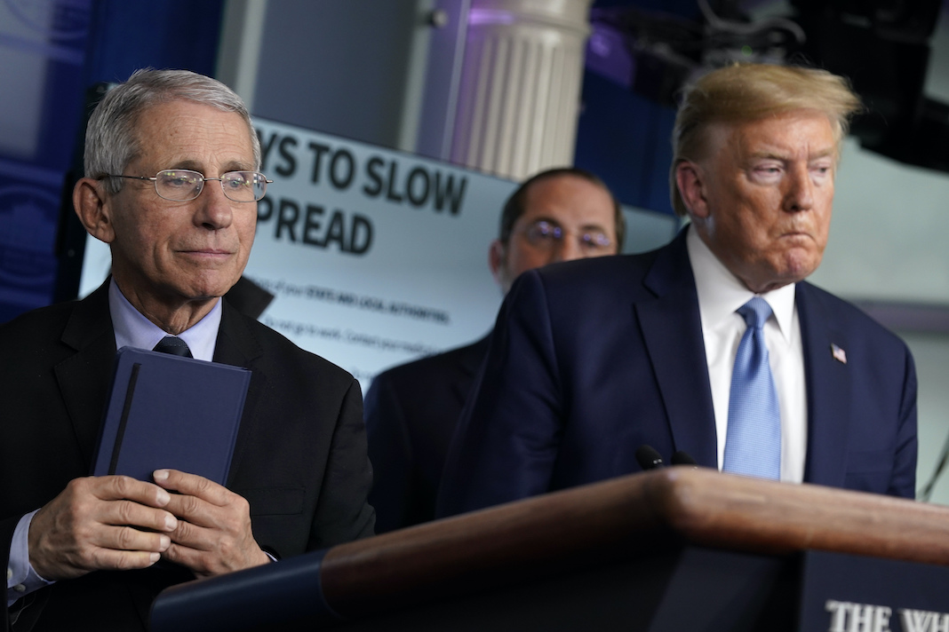 Donald Trump and Dr. Anthony Fauci