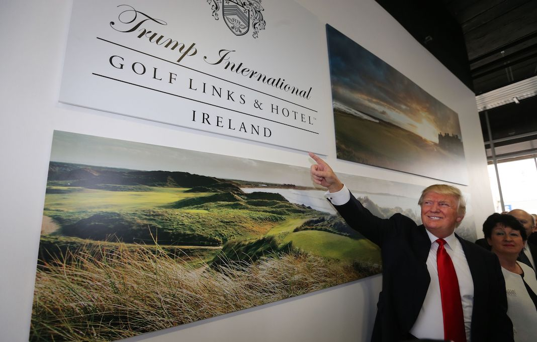 Donald Trump at Shannon airport in Ireland.