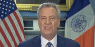 New York Mayor Bill DeBlasio