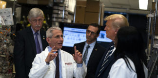Dr. Anthony Fauci, Donald Trump