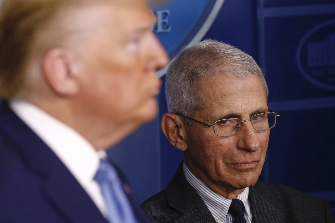 Dr. Anthony Fauci with Donald Trump