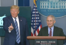 Donald Trump with Dr. Anthony Fauci