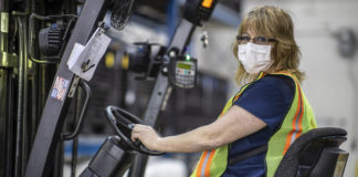 Ford Worker in Mask