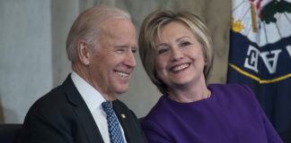 Former Vice President Joe Biden and former Secretary of State Hillary Clinton