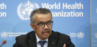 Tedros Adhanom Ghebreyesus, director -general of the World Health Organization