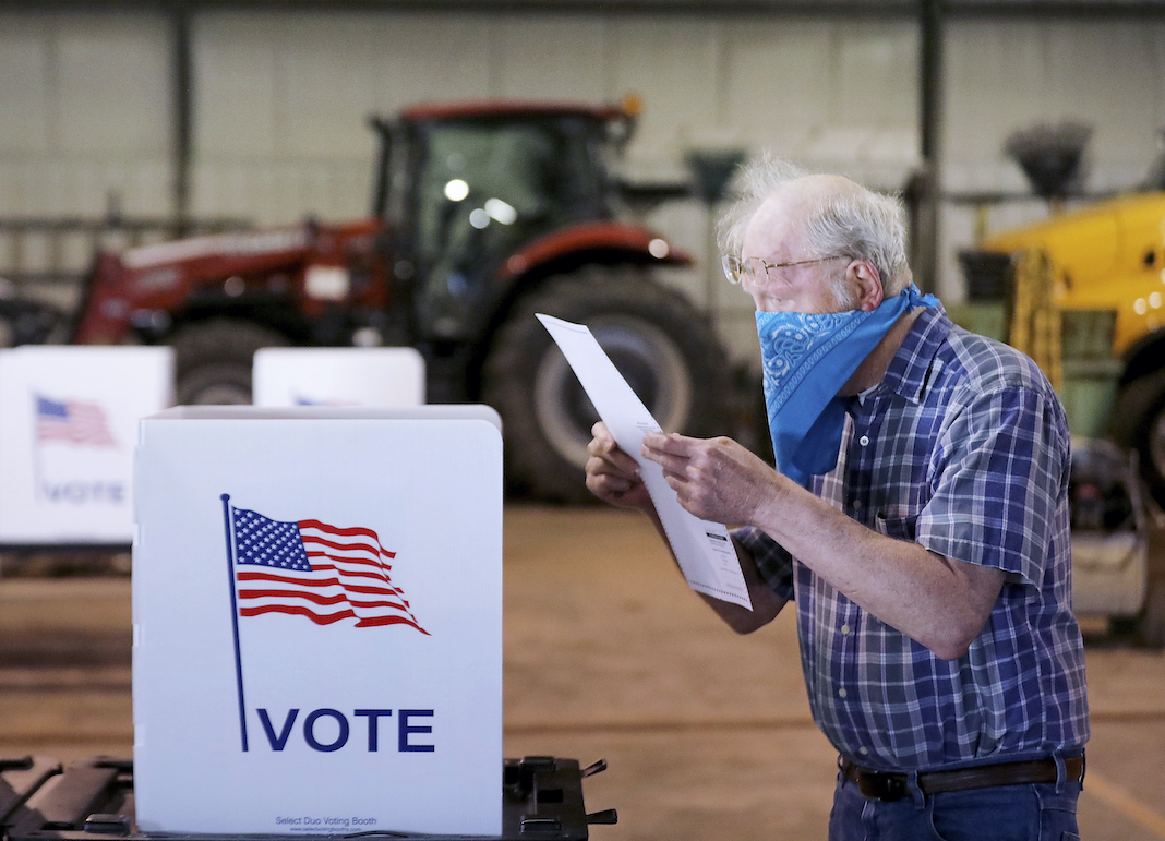 Wisconsin voter on Election Day