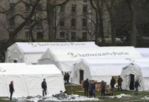 NY: Emergency Field Hospital Set Up In NYC Central Park