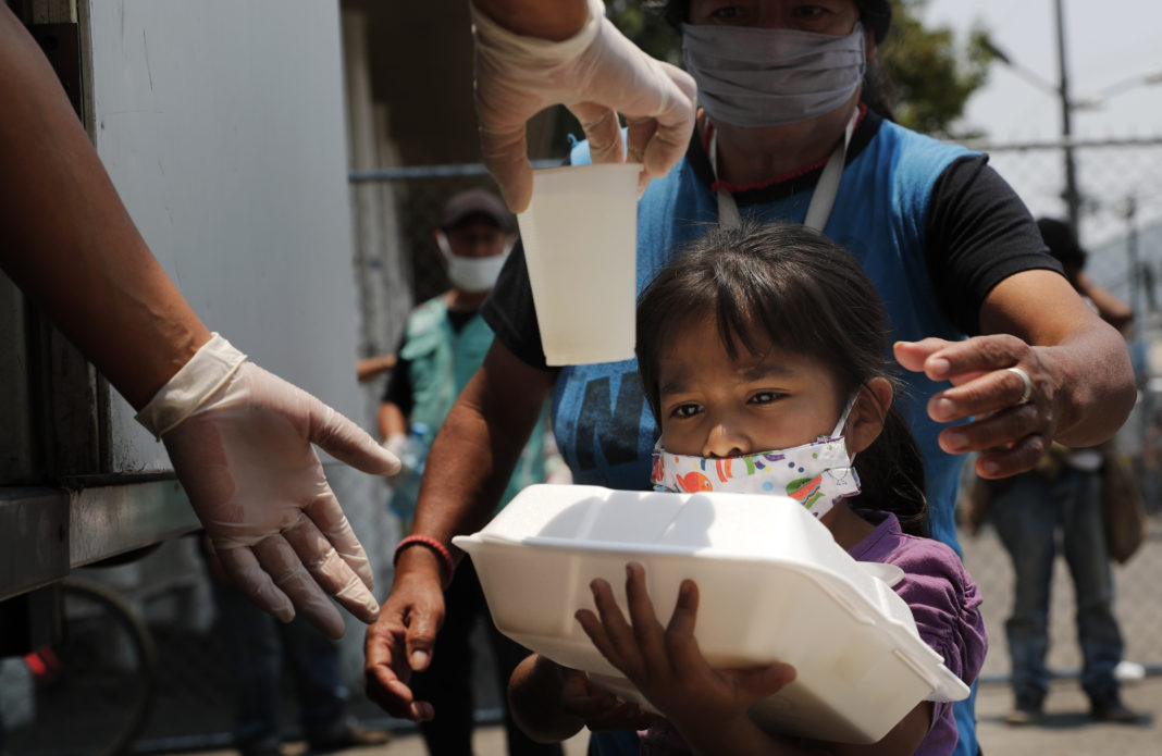 Virus Outbreak Mexico, masks, child