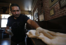 Virus Outbreak California, restaurant workers