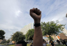 Arm Fist Protest