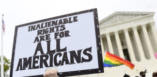 LGBTQ protesters, Supreme Court